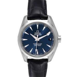 ساعة يد رجالية أوميغا سيماستر أكوا ترا 231.13.39.21.03.001 ستانلس ستيل أزرق 38.5 مم