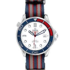 ساعة يد رجالية أوميغا سيماستر جيمز بوند كوأكسيال 212.32.41.20.04.001 ستانلس ستيل أبيض 41 مم