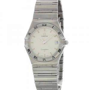 Omega Silver Stainless Steel Constellation Women's Wristwatch 34 MM