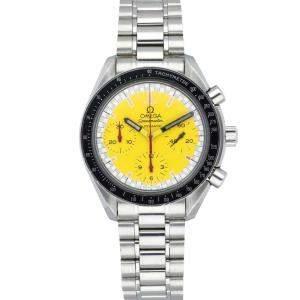 Omega Yellow Stainless Steel Speedmaster Schumacher 3510.12.40 Men's Wristwatch 39 MM