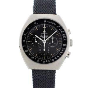 Omega Black Stainless Steel Speedmaster Professional Mark II 145.014 Vintage Men's Wristwatch 42 MM