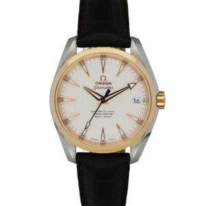 Omega Silver 18K Rose Gold And Stainless Steel Seamaster Co-Axial 231.23.42.21.02.001 Men's Wristwatch 41.5MM