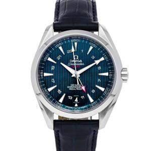 Omega Blue Stainless Steel Seamaster Aqua Terra GMT 231.13.43.22.03.001 Men's Wristwatch 43 MM