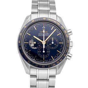 "Omega Blue Stainless Steel Speedmaster Moonwatch ""Apollo XVII"" Anniversary Limited Edition 311.30.42.30.03.001 Men's Wristwatch 42 MM"