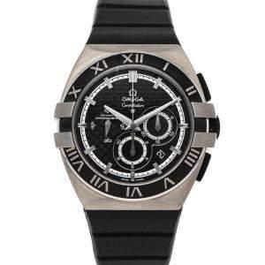 Omega Black Titanium Constellation Double Eagle Chronograph Mission Hills World Cup Golf Edition 121.92.41.50.01.001 Men's Wristwatch 41 MM