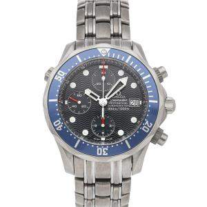 Omega Blue Titanium Seamaster Chronograph Diver 300m 2298.80.00 Men's Wristwatch 41.5 MM