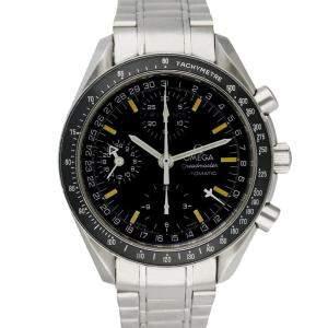 Omega Black Stainless Steel Speedmaster Triple Date 3520.50 Automatic Men's Wristwatch 39 MM
