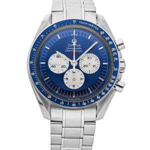 """Omega Blue Stainless Steel Speedmaster Professional Moonwatch """"Gemini 4 First Space Walk"""" 40th Anniversary Limited Edition 3565.80.00 Men's Wristwatch 42 MM"""