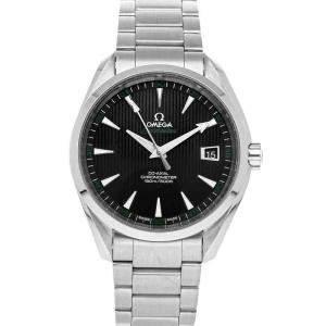 Omega Black Stainless Steel Seamaster Aqua Terra 150m Golf 231.10.42.21.01.001 Men's Wristwatch 41.5 MM