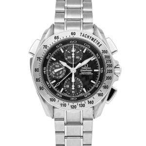 Omega Black Stainless Steel Speedmaster Split-Seconds 3840.50.31 Men's Wristwatch 44 MM