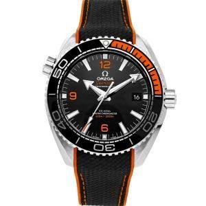 Omega Black Stainless Steel Seamaster Planet Ocean 600m 215.32.44.21.01.001 Men's Wristwatch 43.5 MM