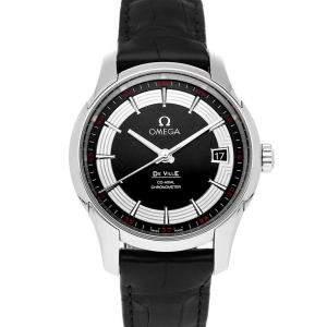 Omega Black Stainless Steel De Ville Hour Vision 431.33.41.21.01.001 Men's Wristwatch 41 MM