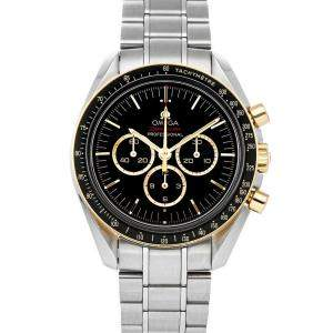 Omega Black 18K Yellow Gold And Stainless Steel Speedmaster Professional Moonwatch Tokyo Olympics Limited Edition 522.20.42.30.01.001 Men's Wristwatch 42 MM