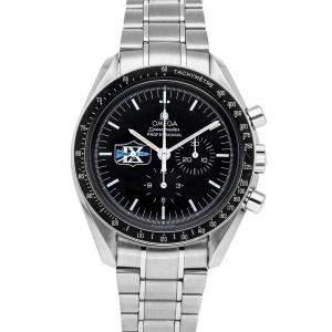 Omega Black Stainless Steel Speedmaster Professional Moonwatch Missions Gemini IX 3597.07.00 Men's Wristwatch 42 MM