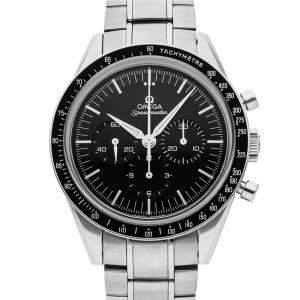 Omega Black Stainless Steel Speedmaster Moonwatch Chronograph Anniversary Series 311.32.40.30.01.001 Men's Wristwatch 39 MM