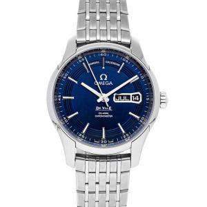 Omega Black Stainless Steel De Ville Hour Vision Annual Calendar 431.33.41.22.03.001 Men's Wristwatch 41 MM