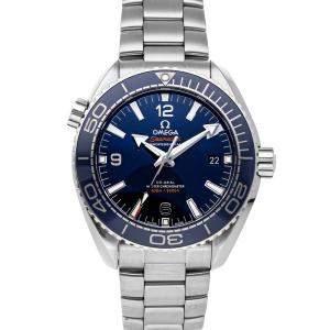 ساعة يد رجالية أوميغا سيماستر بلانيت أوشن 600m  215.30.44.21.03.001 ستانلس ستيل زرقاء 43.5 مم