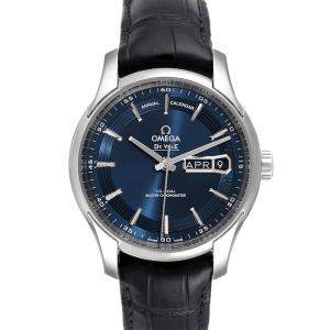 Omega Blue Stainless Steel DeVille Hour Vision 433.33.41.22.03.001 Men's Wristwatch 41 MM