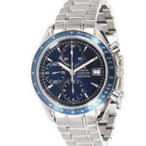 Omega Blue Stainless Steel Speedmaster 3212.80.00 Men's Wristwatch 40 MM