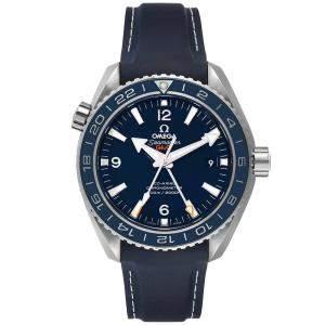 ساعة يد رجالية أوميغا سي ماستر بلانيت أوشن GMT 600M 232.92.44.22.03.001 ستانلس ستيل زرقاء 43.5 مم