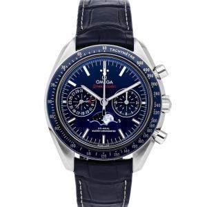 ساعة يد رجالية أوميغا سبيدماستر مونفيس كرونوغراف 304.33.44.52.03.001 سبيدماستر ستانلس ستيل أزرق 44 مم