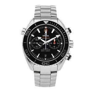 ساعة يد رجالية أوميغا سيماستر بلانيت أوشان 600 متر 232.30.46.51.01.003 ستانلس ستيل سوداء 45.5 مم