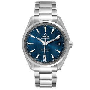 Omega Blue Stainless Steel Seamaster Aqua Terra 231.10.42.21.03.003 Men's Wristwatch 41.5 MM