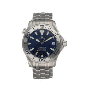 Omega Blue Stainless Steel Seamaster Professional 2253.80.00 Automatic Men's Wristwatch 36 MM
