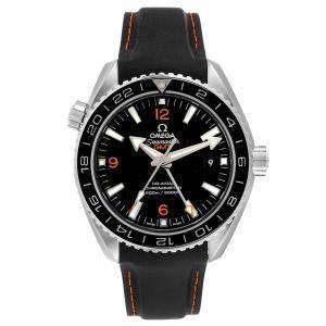 ساعة يد رجالية أوميغا سي ماستر بلانيت أوشن GMT 600m 232.32.44.22.01.002 ستانلس ستيل سوداء 43.5 مم