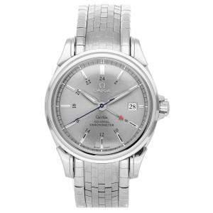 Omega Silver Stainless Steel De Ville GMT 4533.41.00 Men's Wristwatch 38 MM