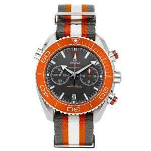 ساعة يد رجالية أوميغا سي ماستر بلانيت أوشن 600m كرونوغراف 215.32.46.51.99.001 رصاصية 45 مم