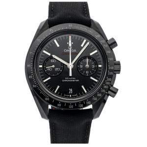 """ساعة يد رجالية أوميغا مون ووتش كرونوغراف """"دارك سايد أوف ذا مون"""" 311.92.44.51.01.003 سيراميك سوداء 44مم"""