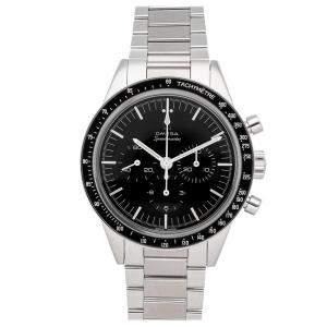 """ساعة يد رجالية أوميغا كاليبر 321 """"أد وايت"""" كرونوغراف 311.30.40.30.01.001 سبيدماستر ستانلس ستيل سوداء 39مم"""