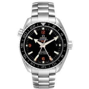 Omega Black Stainless Steel Seamaster Planet Ocean GMT 600m 232.30.44.22.01.002 Men's Wristwatch 43.5 MM