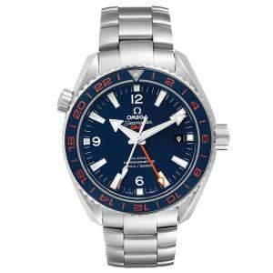 Omega Blue Stainless Steel Seamaster Planet Ocean GMT 232.30.44.22.03.001 Men's Wristwatch 44 MM