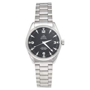 ساعة يد رجالية أوميغا أكوا تيرا ريل ماستر 2802.52.31 ستانلس ستيل سوداء 41 مم