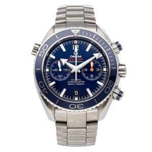 Omega Blue Titanium Seamaster Planet Ocean 600m Chronograph 232.90.46.51.03.001 Men's Wristwatch 45 MM