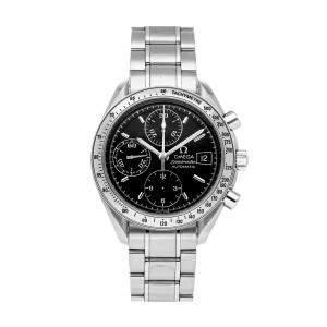 Omega Black Stainless Steel Speedmaster Chronograph Date 3513.50.00 Men's Wristwatch 39 MM