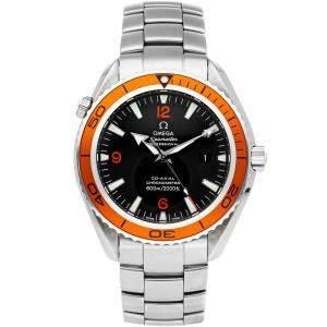 Omega Black Stainless Steel Seamaster Planet Ocean 600m 2208.50.00 Men's Wristwatch 45 MM