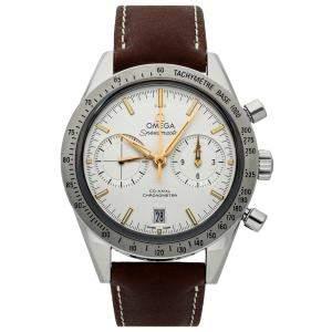 Omega White Stainless Steel Speedmaster '57 Chronograph 331.12.42.51.02.002 Men's Wristwatch 41 MM