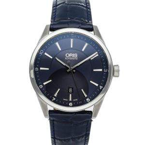 Oris Blue Stainless Steel Artix Date 01 733 7642 4035-07 5 21 85FC Men's Wristwatch 42 MM
