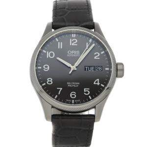 Oris Black Stainless Steel Big Crown Propilot Big Day Date 01 752 7698 4063-07 5 22 06FC Men's Wristwatch 45 MM