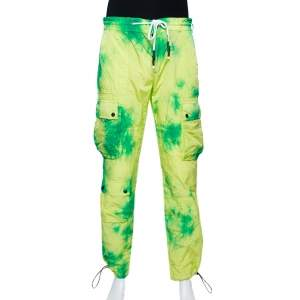 Palm Angels Fluorescent Tie Dye Nylon Cargo Pants L