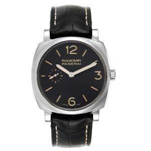 Panerai Black Stainless Steel Radiomir 1940 3 Days PAM00512 Men's Wristwatch 42 MM