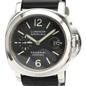 Panerai Black Stainless Steel Luminor Automatic PAM00104 Men's Wristwatch 44 MM