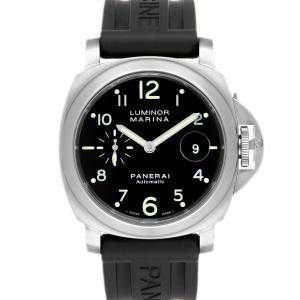 Panerai Black Stainless Steel Luminor Marina Automatic PAM00164 Men's Wristwatch 44 MM