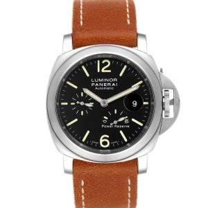 ساعة يد رجالية بانيراي  باور ريزيرف أوتوماتيك PAM00090 لومينور ستانلس ستيل سوداء 44 مم