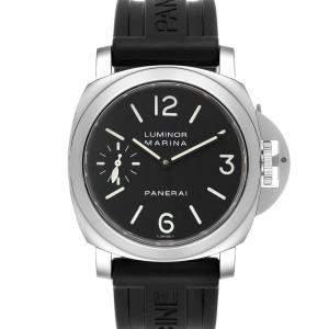 Panerai Black Stainless Steel Luminor Marina PAM00111 Men's Wristwatch 44 MM