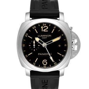 Panerai Black Stainless Steel Luminor GMT PAM00531 Men's Wristwatch 44 MM