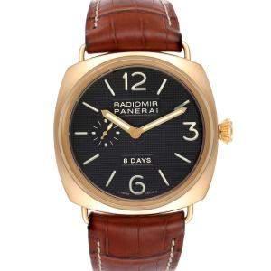 Panerai Black 18K Rose Gold Radiomir 8 Days PAM00197 Men's Wristwatch 45 MM